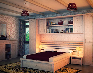дизайн спальни со встроенным шкафом купе